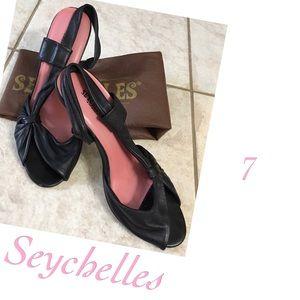 Seychelles Shoes - ⤵️Seychelles Peep Toe Slingback Leather heels 7