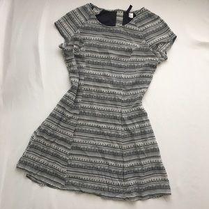 Black and white H&M pattern dress.
