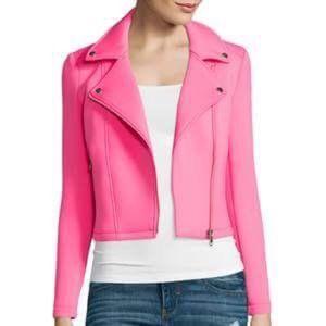 belle sky Jackets & Blazers - NWOT pink moto jacket