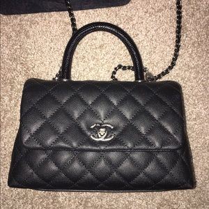 3b2b7fb13fc9 CHANEL - Chanel Coco Calfskin Flap Bag with Lizard Handle from Betty's