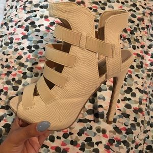 Lola shoetique cream color heels