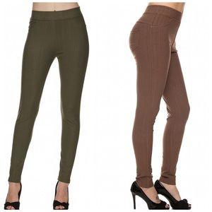 Pants - Army green *plus* jeggings
