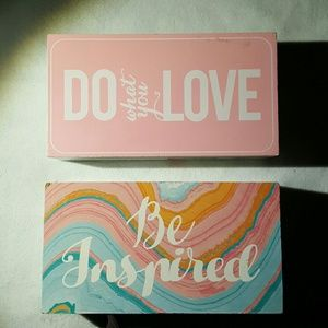"""Be Inspired"" & ""Do what you love"" Home Decor ?"
