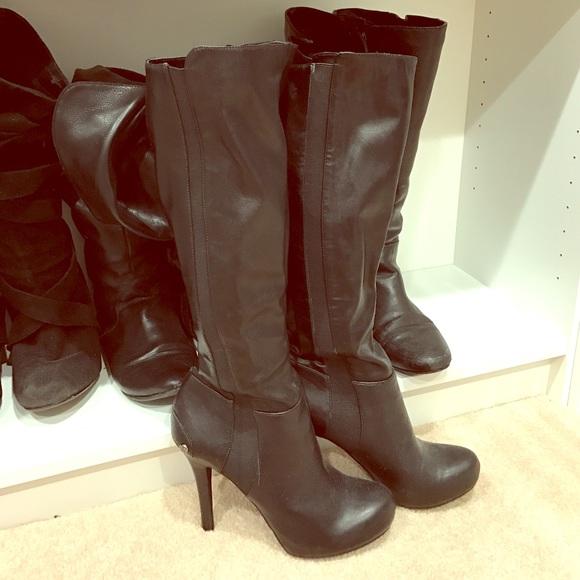 bcbg bcbg black knee high boots from christine s closet