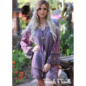 Threads & Trends Dresses & Skirts - Periwinkle Printed Tunic Dress