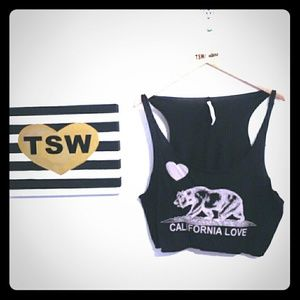 MICHELLE california love black soft tank