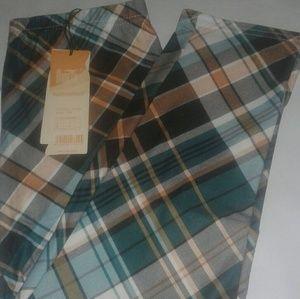 Real Checkard Cotton Capri leggings sz M/L