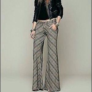 👓 Free People Plaid Flare Trousers 👓