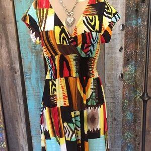 Christina Love Dresses & Skirts - Christina love colorful short dress. Size Medium