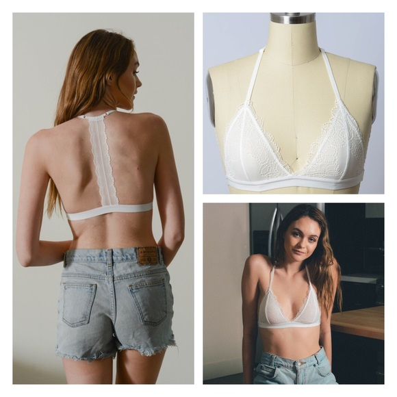 5516e701d2dfa1 Just In- Sexy Eyelet Lace T-Back Bralette