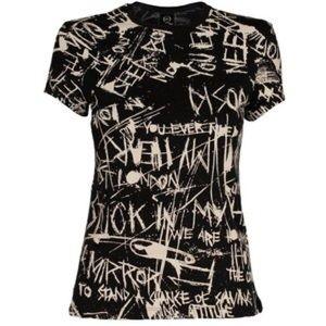 McQ Alexander McQueen Tops - McQ Alexander McQueen Graffiti Print T-Shirt