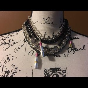 Harajuku Lovers Jewelry - HARAJUKU LOVERS LIPSTICK RHINESTONE NECKLACE