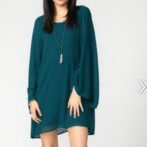 Show Me Your MuMu Dresses & Skirts - Show Me Your MuMu Bombshell Dress Emerald Chiffon