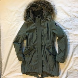 Abercrombie & Fitch Hooded Military Parka