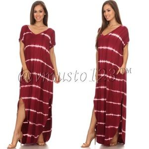 SUPER COMFY OVERSIZED TIE DYE MAXI DRESS