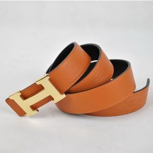 Hermes Accessories - Orange Hermés Reversible Leather Belt