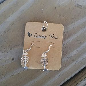 Fishbone beach summer earrings