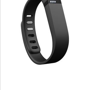 Black Fitbit activity tracker