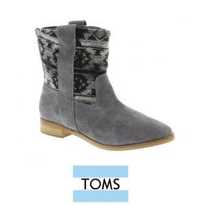 TOMS Shoes - TOMS Laurel Castlerock Grey Suede & Tribal Wool