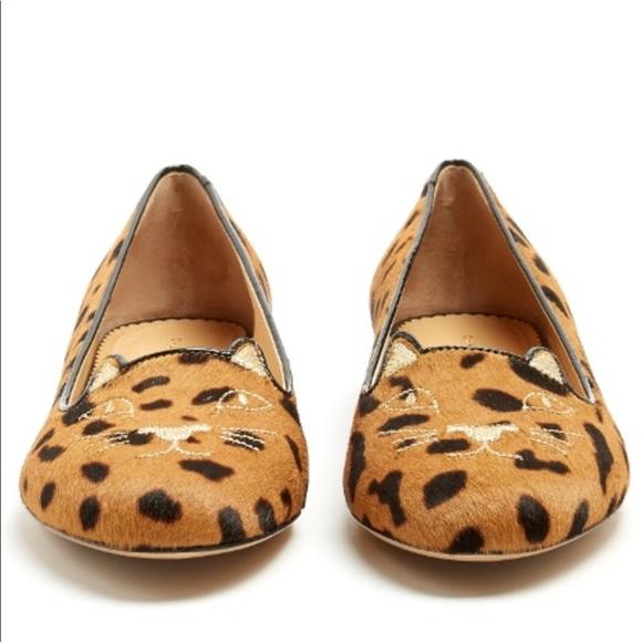 5af41f710c3b Charlotte Olympia Shoes | Leopard Print Kitty Flat | Poshmark
