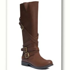 JustFab Shoes - Tall Brown Boots