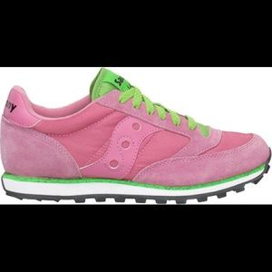 Saucony Shoes - Saucony Jazz Low Pro Sneakers Pink Green