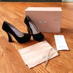 Miu Miu Shoes - Miu miu suede flared heels