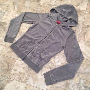 MOSSIMO blue-ish grey velour hoodie