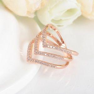 3 V Shaped Ring