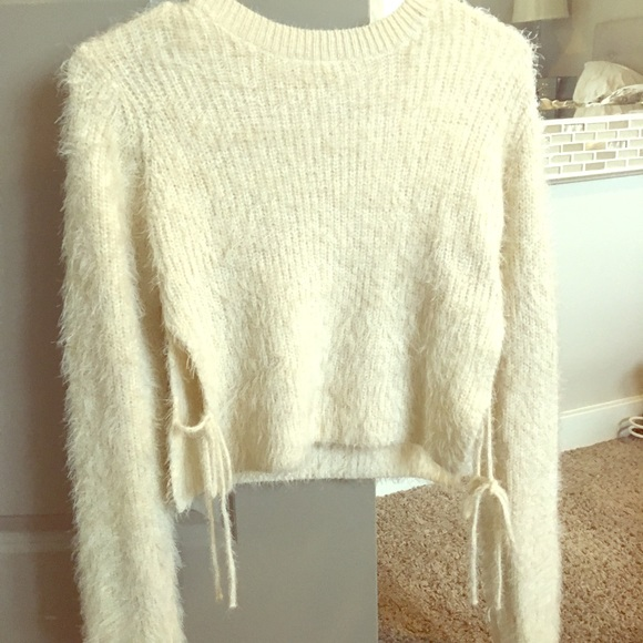 77% off Sweaters - Cotton Candy LA fuzzy cream sweater from ...