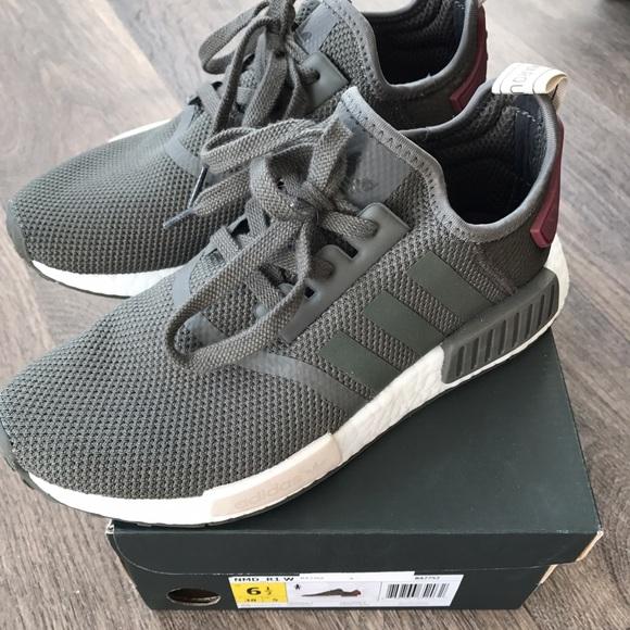 adidas schuhe nmd r1 sz 65 utility gray 100 verbindlich poshmark