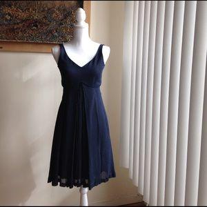 32106048f0ac Emporio Armani Dresses - Emporio Armani empire waist navy polka-dot dress