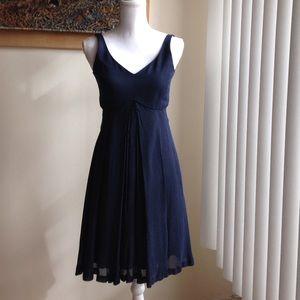 Emporio Armani Dresses & Skirts - Emporio Armani empire waist navy polka-dot dress