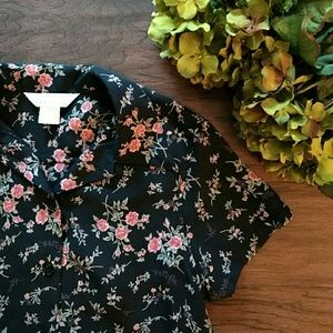 Express Tops - EXPRESS sheer floral top
