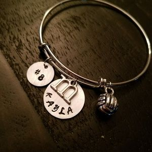 Personalized sports volleyball player bracelet