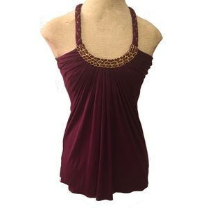 Sky Tops - Sky Night Out Tank Top Statement Neckline