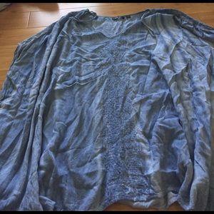 Super flowy tie dye blouse