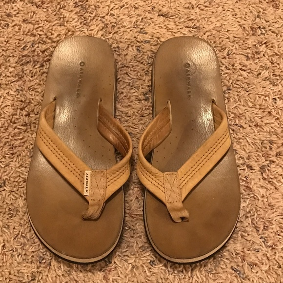 7cff77e4e Airwalk Shoes - Airwalk Brown Leather Flip Flop Sandals