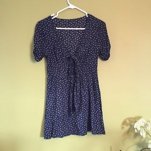 Swell Dresses & Skirts - Swell Navy Daisy Cut Out Babydoll Dress