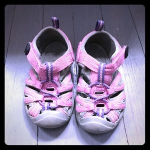 Keen Other - Keen pink purple gray Velcro sandals water shoes
