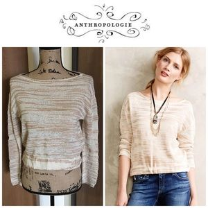 Anthropologie Sparrow Janine Pullover Crop Sweater