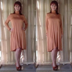 Dresses & Skirts - NEW TERRA COTTA LONG SLEEVE DRESS