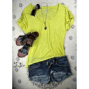 Mossimo Supply Co Tops - * MOSSIMO - Yellow Asymmetrical Top