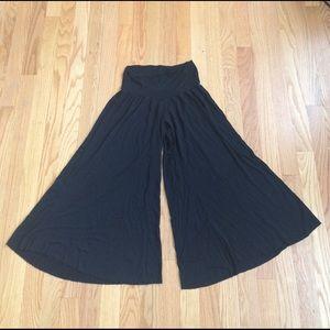 Rachel Pally Pants - Rachel Pally Small Black Palazzo Culottes Pants