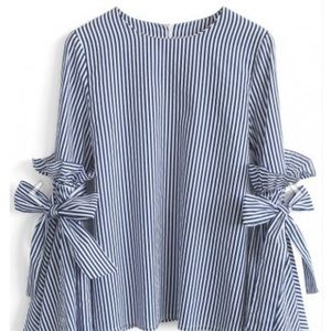 CHICWISH Tops - NWT CHICWISH stripped blouse