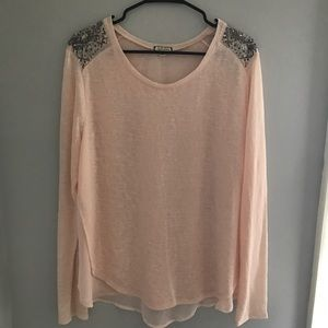 Eyeshadow Tops - Peach long sleeved blouse