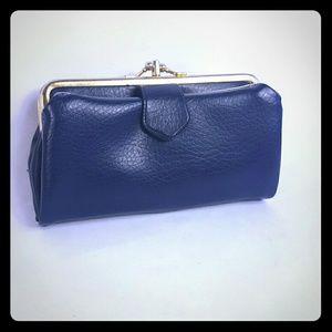 Navy blue vintage wallet