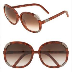 74769281874d Chloe Accessories - Chloé - Myrte tortoiseshell oversized sunglasses