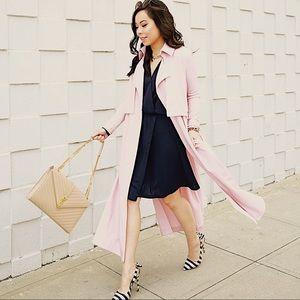 💗 LXÉ Riverside Dusty Pink Trench Coat Duster