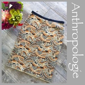 Anthropologie Sparrow printed knit skirt